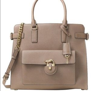 NWT Michael Kors Emma Large Saffiano Dune Leather